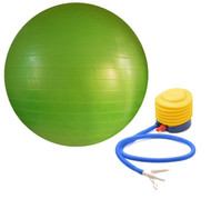 Sivan Health and Fitness Burst Resistant Yoga Exercise Fitness Pilates Stability Ball with Pump 65cm Green