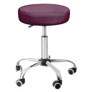 Sivan Health and Fitness Adjustable Rolling Stool For Massage Tables, Doctor's Clinics and Examination Tables (Burgundy)