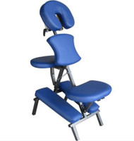 Sivan Health and Fitness Portable Massage Folding Chair Including Carrying Case (Blue)