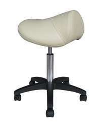 Sivan Health and Fitness Rolling Saddle Massage Stool with Hydraulic Adjustable Controls (Beige)