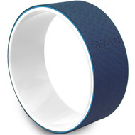 Sivan Health and Fitness Yoga Wheel - Premium TPE Mat Material 12.6 Diameter (Blue)