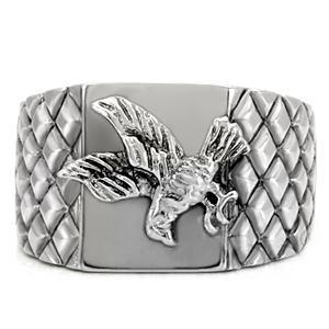 Veteran U.S. Pride - Steel American Bald Eagle Ring - Military Ring