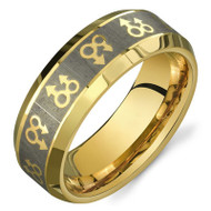 Gold Male Symbols Gay Engagement / Gay Marriage Ring Band