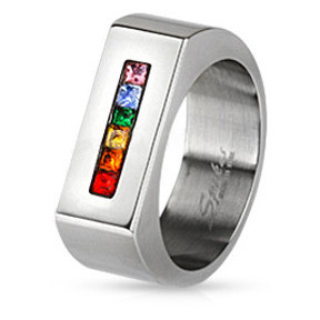 ring my iphone a rainbow string wide flat top ring lgbt and 1498