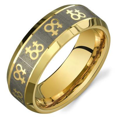 Gold Female Symbols Lesbian Wedding Ring Band Promise Ring Pride Shack