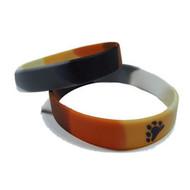 Bear Pride Silicone Bracelet Wristlet - Gay & Lesbian LGBT Pride Wristband w/ Bear Paw