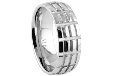 Stainless Steel Wedding Rings Sets 66 Good Hatch Mark Wedding Ring