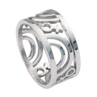 Pride ShackGay Male Symbols on Steel Black IP Ring