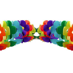 Image of 12' Foot Rainbow Gay Pride Flag (Flower) Party Garland Banner LGBT Gay and Lesbian Pride Party Supplies