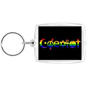 Image of Coexist Rainbow Keychain LGBT Gay and Lesbian Pride Rainbow Accessories and Gifts