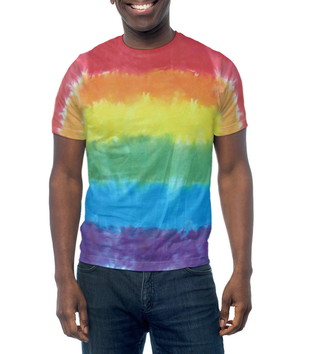 Rainbow Flag Tie Dye T-Shirt – Handmade & Unique – LGBT Lesbian and Gay Pride Apparel and Clothes. LGBT Gay Pride T-Shirt Pride Clothing