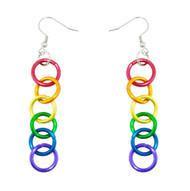 LGBT Pride Rainbow Linkage Dangle Earrings - Gay and Lesbian Pride Earrings - Gay earring Set