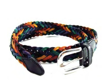 Image of Rainbow Braided Leather Belt (with Adjustable Buckle ) LGBT Gay ∧ Lesbian Pride Clothing Accessories