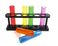 Gay Rainbow Test Tube Shot Glasses Gift Set - LGBT Lesbian and Gay Pride Party Supplies. Rainbow Items from Reinhardt Depot