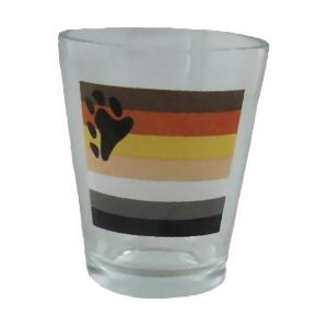 Bear Pride Flag Shot Glass - LGBT Gay Men's Pride Gifts and Merchandise