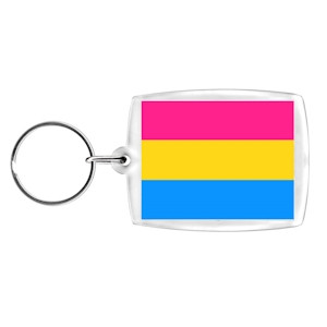 Pansexual / Pan Pride - Clip on Charm or Keychain (Pan Sexual Flag)