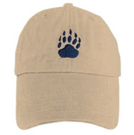 Tan Baseball Cap with Gay Bear Pride Paw Symbol - LGBT Gay Men's Pride Hat. Gay Bear Pride Clothing & Apparel