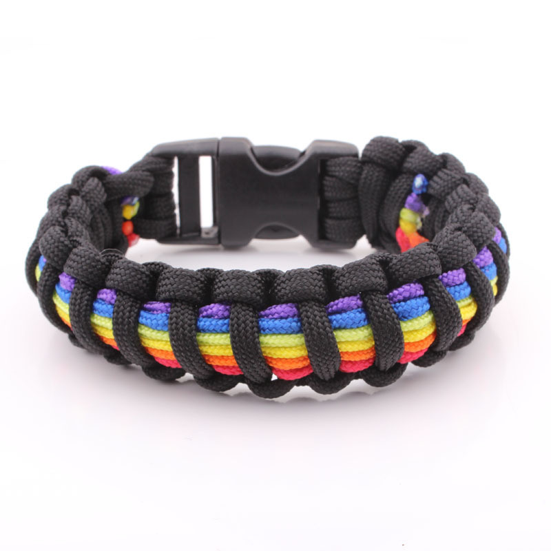Gay Pride Wedding Bands 18 Trend Black and Rainbow Flag