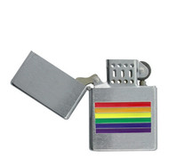 Chrome Center Rainbow Flag Gay Pride Lighter LGBT Gay and Lesbian - Popular in Gay Pride Products