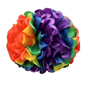 Large Rainbow Gay Pride Floral Bow Hair Clip or Party Decoration - LGBT Gay and Lesbian Pride Apparel