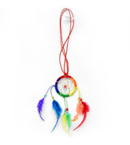 Lesbian and Gay Pride Rainbow Dream Catcher Necklace. LGBT Jewelry and accessories