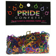 Gay Male Symbol Rainbow Colored Party Confetti (Metallic) - LGBT Gay Pride Party Supplies