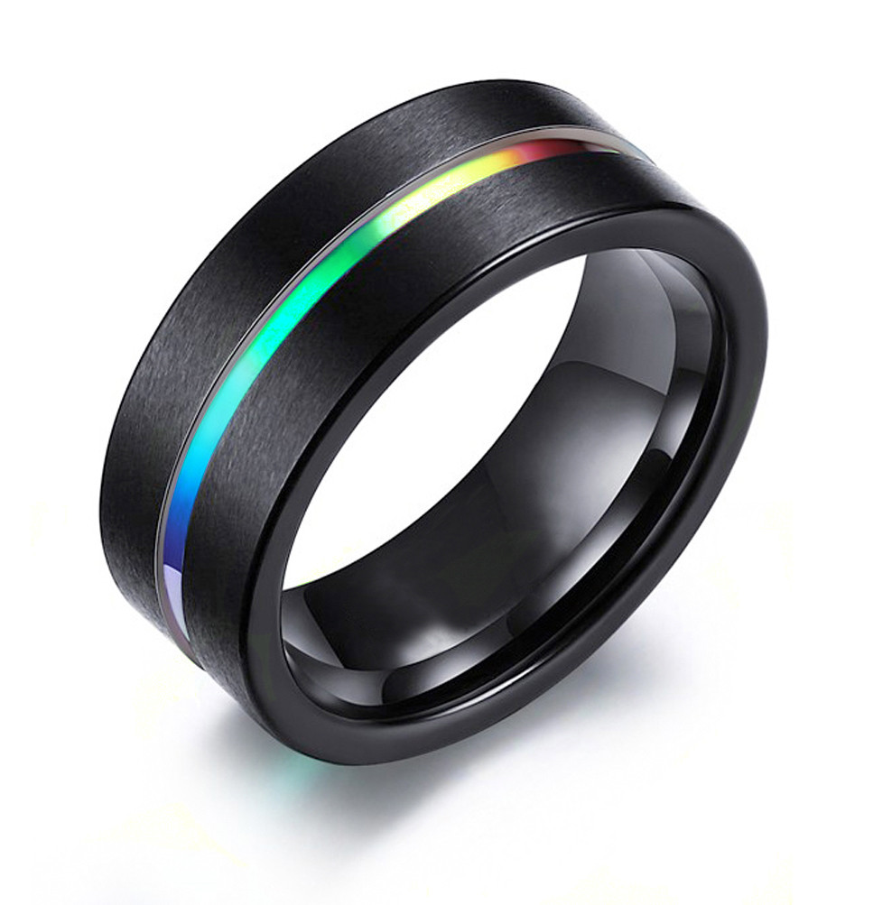 from Lucian gay pride rings