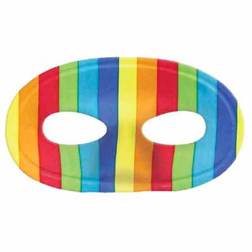 Gay Pride Rainbow Face Mask with Elastic Band - LGBT Gay & Lesbian Pride Parade Accessories - (Flexible Masquerade Mask)