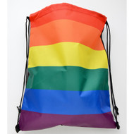 Full Rainbow Flag - Drawstring backpack / School bag - Gay Pride - LGBT Lesbian Pride Gifts and Accessories