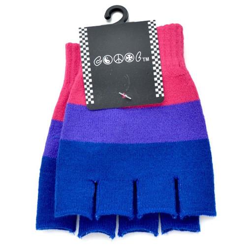 Bi Pride Flag / Bisexual Pride Fingerless Gloves - LGBT Pride Apparel and Clothing