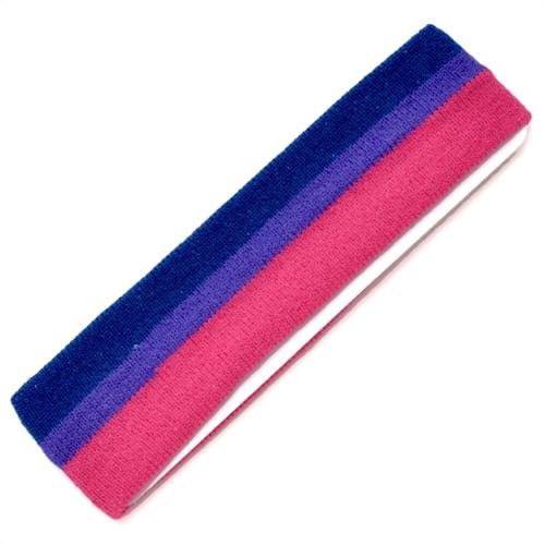 Bi Pride / Bisexual Pride Flag Cloth Stretchy Headband / Sweatband - LGBT Pride Apparel