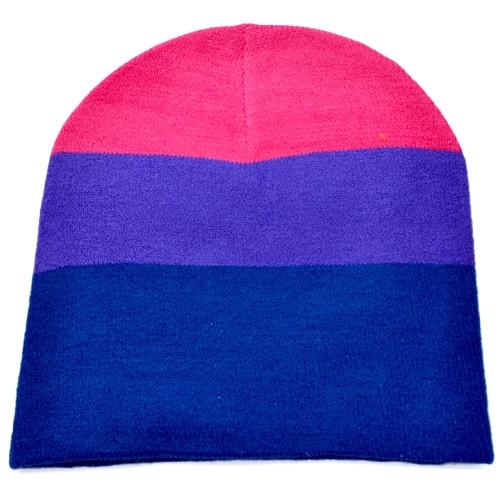 89ab6466ee12e Bi Pride   Bisexual Pride Flag Beanie Hat - LGBT Pride Cap ...