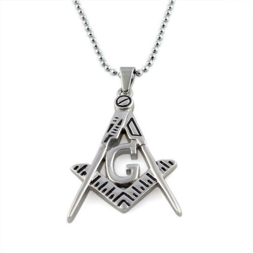 Freemason pendant masonic necklace cut out design enamel image 1 aloadofball Gallery