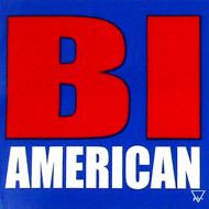 "BI AMERICAN - Bisexual / Bi Pride - 3x3"" inch car bumper sticker decal"