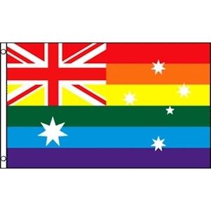 Image of Gay Flag Australia 3 x 5 Polyester Australian Pride Rainbow Flag / Gay Flag