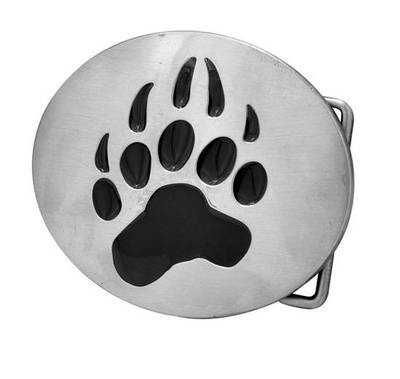 Image of Bear Pride Oval Steel Belt Buckle Gay Pride Clothing Accessories