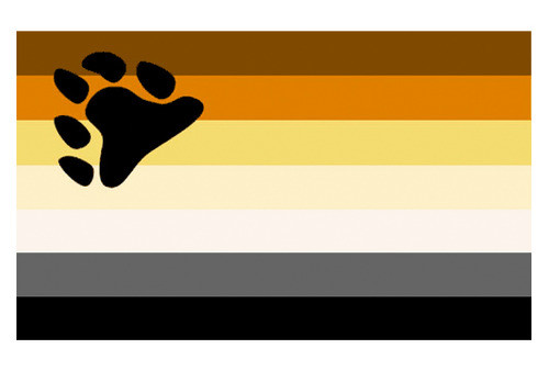Image of Bear Pride Flag / Gay Pride (Paw Symbol) 3 x 5 Polyester Flag