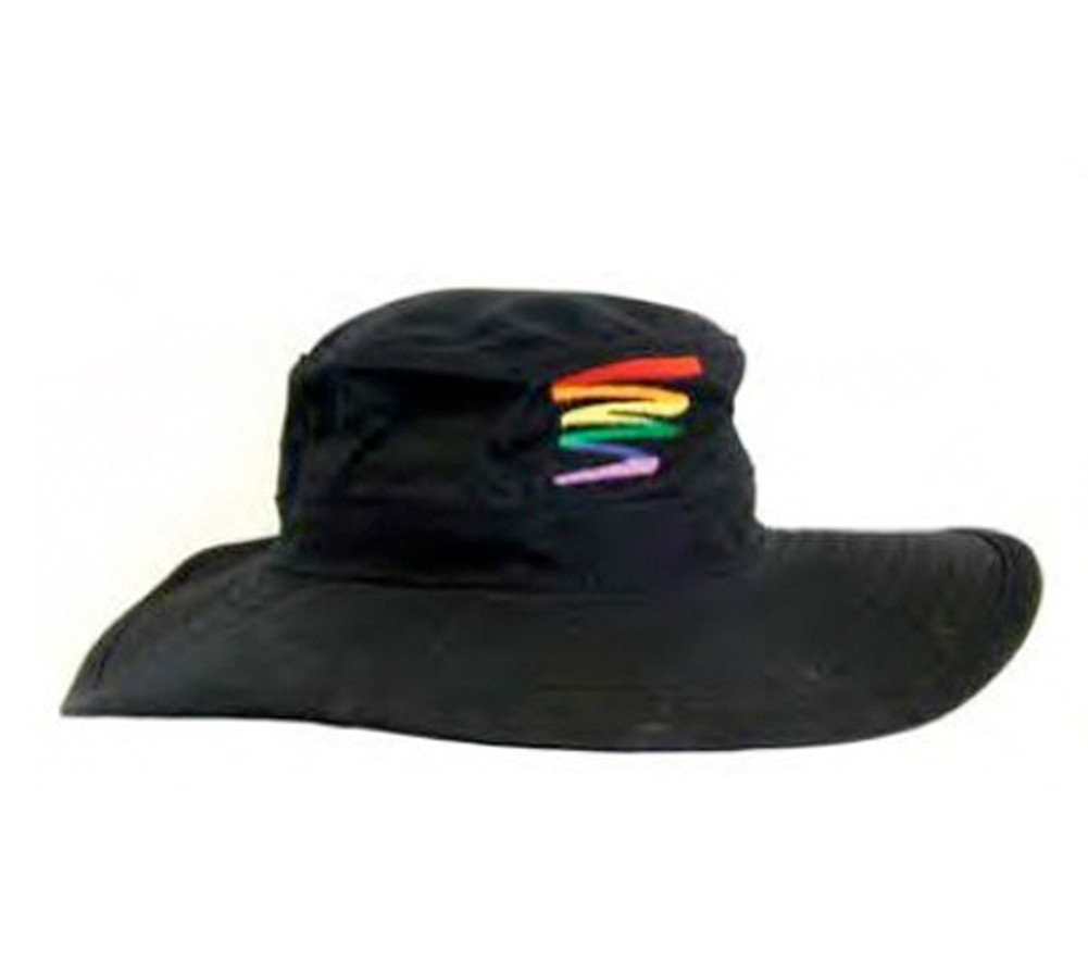 Image of Black Squiggle Safari Hat LGBT Gay ∧ Lesbian Pride Cap. Gay and Lesbian Pride Clothing ∧ Apparel