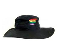 Black Squiggle Safari Hat - LGBT Gay & Lesbian Pride Cap. Gay and Lesbian Pride Clothing & Apparel