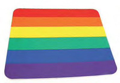 Image of Gay Pride Flag Rainbow Square Computer Mousepad Gay and Lesbian LGBT