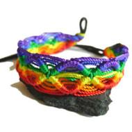 Rainbow Macrame Braided Bracelet - Gay & Lesbian LGBT Pride