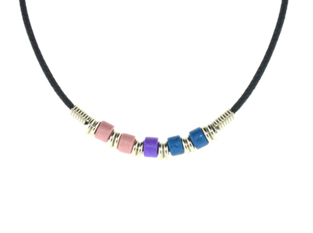 Image of Bi Pride Plain Bead Necklace Bisexual LGBT Pride Chain
