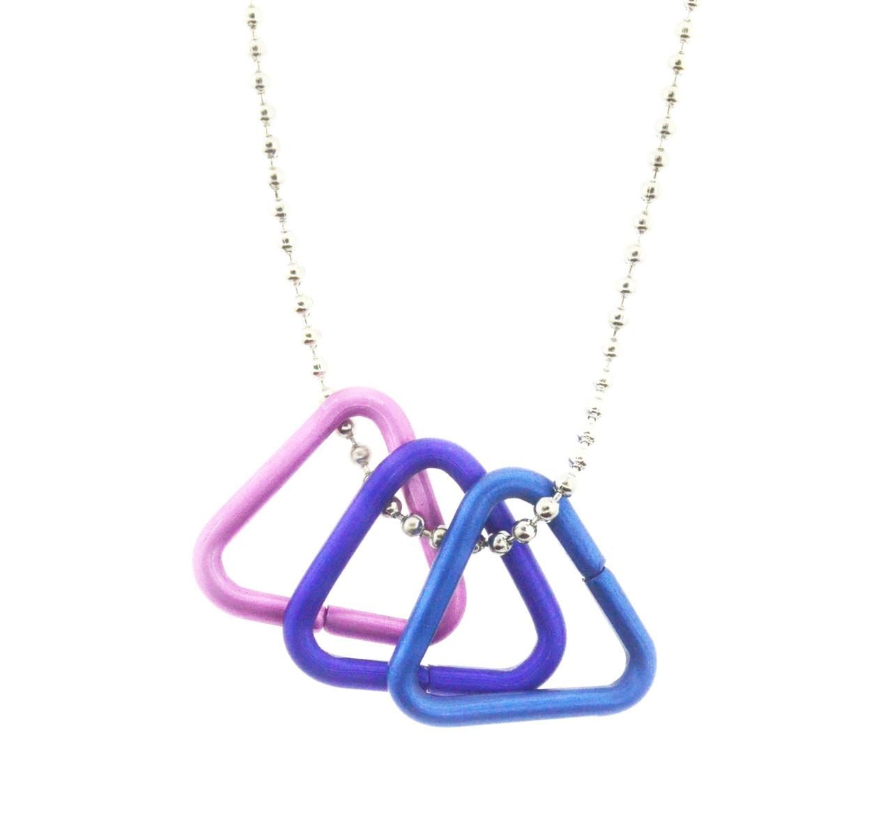 Bi Pride Freedom Triangle Necklace - Bisexual LGBT Pride Chain