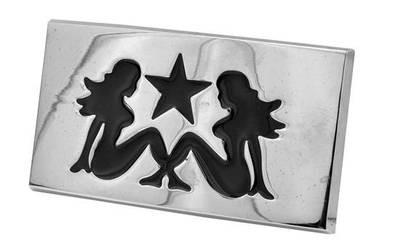 Two Lesbians – Hot Girls – Double Girl Symbol – Steel Rectangular Belt Buckle