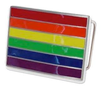 Rainbow Rectangular Belt Buckle – LGBT Gay & Lesbian Pride