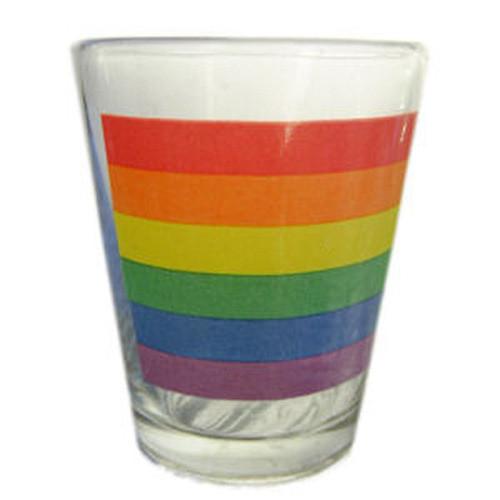 Image of Rainbow Pride LGBT Gay and Lesbian Pride Flag Shot Glass
