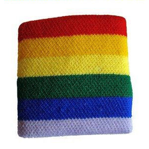 Gay Pride Rainbow Wristband (Stretchy Sport Bracelet) – LGBT Gay & Lesbian Pride Acessories