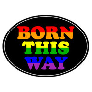 Born This Way - Pride LGBT Gay and Lesbian - Car Magnet - Black and Rainbow