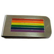 Rainbow Pride LGBT Gay and Lesbian - Money Clip Holder
