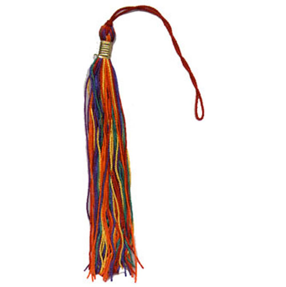 Image of Gay Pride Rainbow Tassel Gay Flag For graduation OR car decor